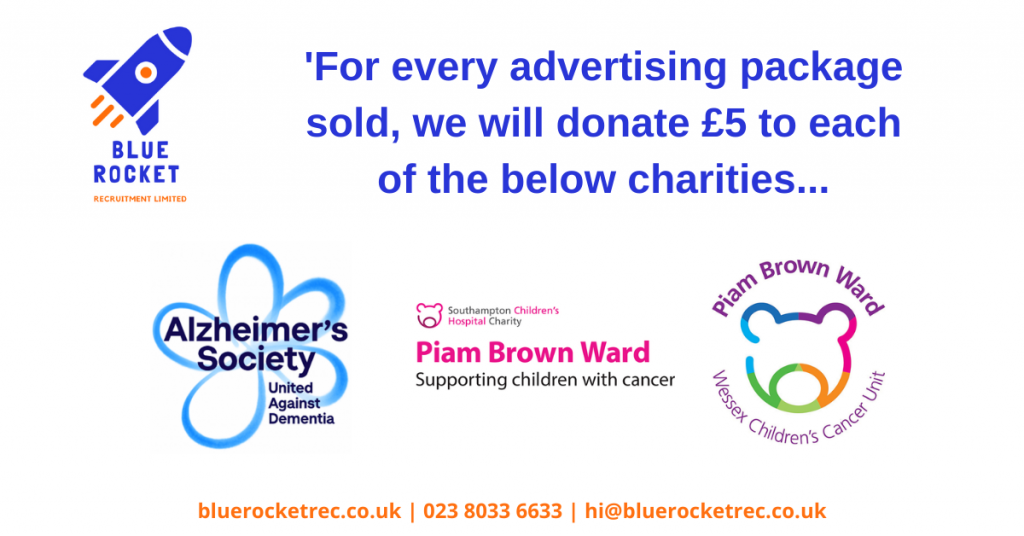 £10 Donated to Charity with Every Recruitment Advertising Solution Sold
